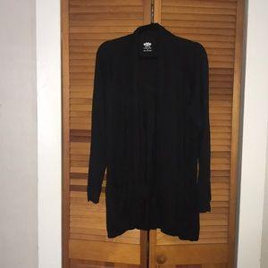 Black activewear cardigan